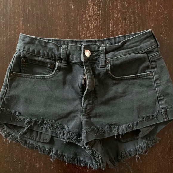 AE distressed shorts